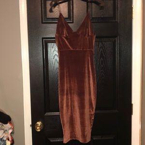 Midi Velvet ASOS dress